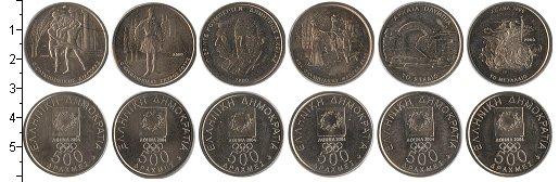Изображение Наборы монет Греция Греция 2000 2000 Медно-никель XF+ В наборе 6 монет ном