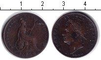 Изображение Монеты Великобритания 1 фартинг 1830 Медь VF Георг IV