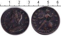 Изображение Монеты Великобритания 1/2 пенни 1751 Медь VF