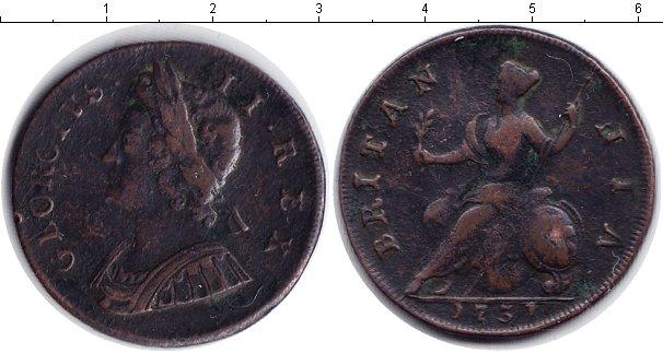 Картинка Монеты Великобритания 1/2 пенни Медь 1751