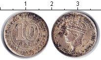 Изображение Монеты Малайя 10 центов 1945 Серебро VF