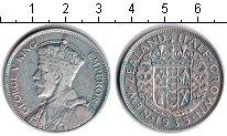 Изображение Монеты Новая Зеландия 1/2 кроны 1935 Серебро VF Георг V