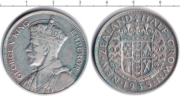 Картинка Монеты Новая Зеландия 1/2 кроны Серебро 1935