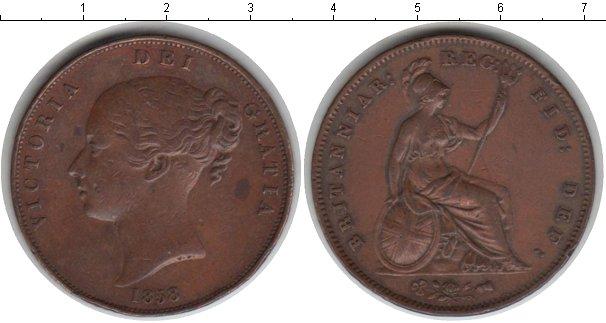 Картинка Монеты Великобритания 1 пенни Медь 1858