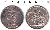 Изображение Монеты Великобритания 1 крона 1891 Серебро XF Виктория