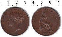 Изображение Монеты Великобритания 1 пенни 1854 Медь XF Виктория