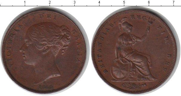 Картинка Монеты Великобритания 1 пенни Медь 1854