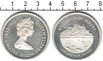 Изображение Монеты Остров Джерси 25 пенсов 1977 Серебро Proof- Елизавета II. Крепос