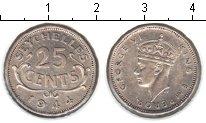 Изображение Монеты Сейшелы 25 центов 1944 Серебро XF Георг VI