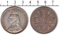 Изображение Монеты Великобритания 2 флорина 1887 Серебро XF Виктория