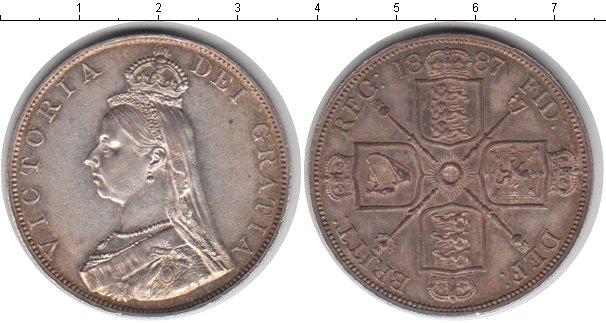 Картинка Монеты Великобритания 2 флорина Серебро 1887