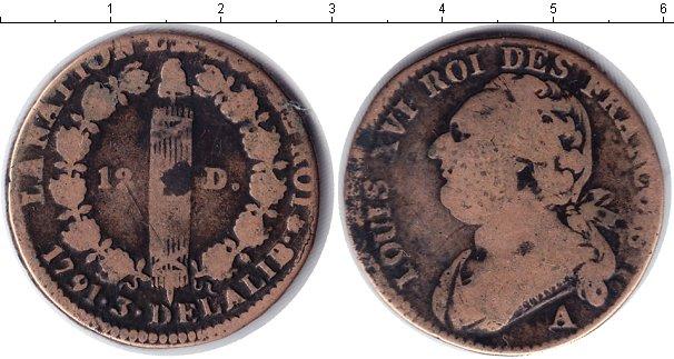 Картинка Монеты Франция 12 динерс Медь 1791