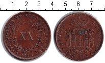 Изображение Монеты Португалия 20 рейс 1878 Медь VF Луи I