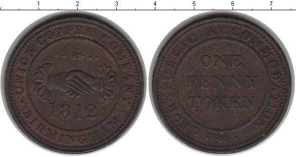 Картинка Монеты Великобритания 1 пенни Медь 1812