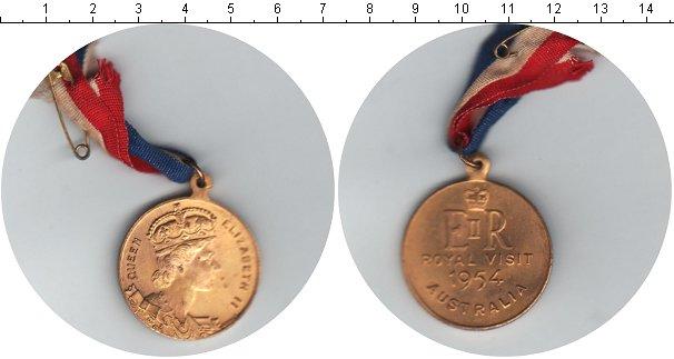 Картинка Монеты Австралия Медаль  1954