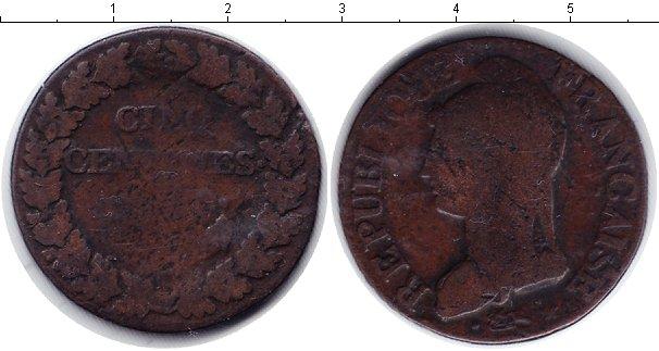 Картинка Монеты Франция 5 сантим Медь 0