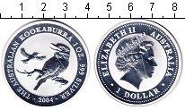 Изображение Монеты Австралия 1 доллар 2004 Серебро Proof- Елизавета II. птица