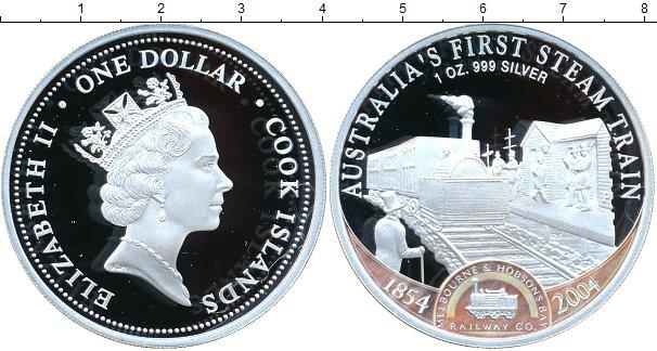Картинка Монеты Острова Кука 1 доллар Серебро 2004