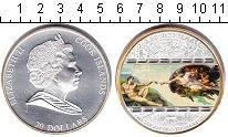Изображение Мелочь Острова Кука 20 долларов 2008 Серебро Proof- Елизавета II.Микелан