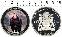 Монета Малави 10 квач Посеребрение 2010 Proof- фото