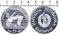 Изображение Монеты Болгария 25 лев 1988 Серебро Proof- прыжки в высоту