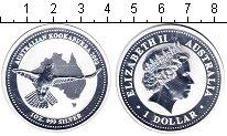 Изображение Монеты Австралия 1 доллар 2002 Серебро Proof- Елизавета II. птица
