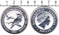 Изображение Монеты Австралия 1 доллар 2004 Серебро Proof- Елизавета II. Коокаб
