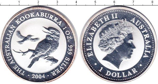 Картинка Монеты Австралия 1 доллар Серебро 2004