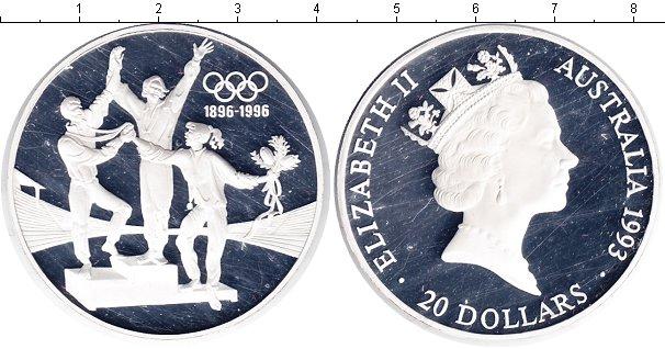 Картинка Монеты Австралия 20 долларов Серебро 1993