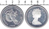 Изображение Монеты Канада 1 доллар 1983 Серебро Proof- Елизавета II. Универ