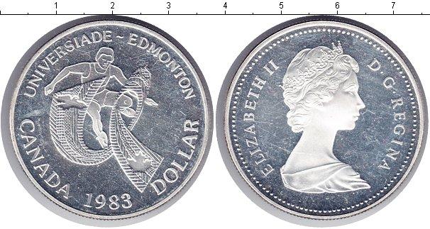Картинка Монеты Канада 1 доллар Серебро 1983