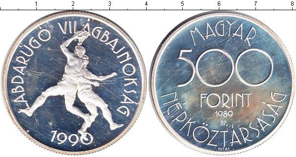 Картинка Монеты Венгрия 500 форинтов Серебро 1989