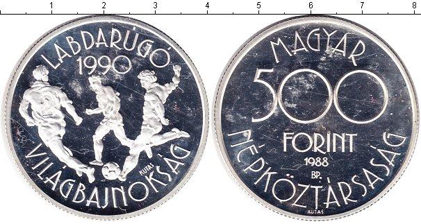 Картинка Монеты Венгрия 500 форинтов Серебро 1988