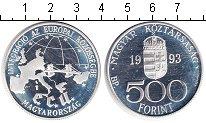 Изображение Монеты Венгрия 500 форинтов 1993 Серебро Proof- Экю
