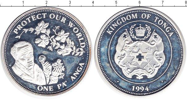 Картинка Монеты Тонга 1 паанга Серебро 1994