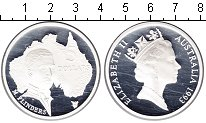 Изображение Монеты Австралия 5 долларов 1993 Серебро Proof- Елизавета II. Флинде