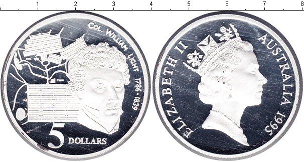 Картинка Монеты Австралия 5 долларов Серебро 1995