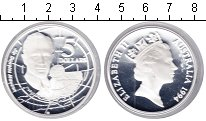 Изображение Монеты Австралия 5 долларов 1994 Серебро Proof- Елизавета II. Мейсон