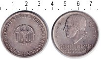 Изображение Монеты Веймарская республика 5 марок 1929 Серебро XF А. Лессинг