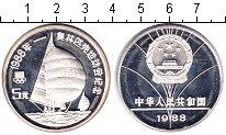 Изображение Монеты Китай 5 юаней 1988 Серебро Proof- Олимпийские игры