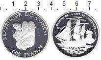 Изображение Монеты Конго 1.000 франков 2004 Посеребрение Proof- Маркус де Лафайетт.