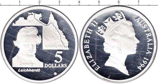 Картинка Монеты Австралия 5 долларов Серебро 1994