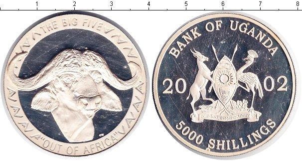 Картинка Монеты Уганда 5.000 шиллингов Серебро 2002