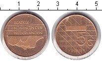 Изображение Мелочь Нидерланды 5 центов 1989  XF Беатрикс
