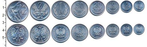 Изображение Наборы монет Польша Польша 1949-1973 0  UNC- В наборе 8 монет ном
