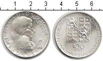 Изображение Мелочь Чехословакия 100 крон 1991 Серебро XF