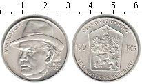 Изображение Мелочь Чехословакия 100 крон 1982 Серебро XF Иван Ольбрахт.