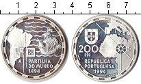 Изображение Монеты Португалия 200 эскудо 1994 Серебро Proof- Великие португальски