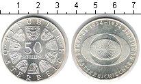 Изображение Монеты Австрия 50 шиллингов 1974 Серебро XF 50-ая Годовщина - ав