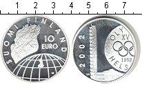Изображение Монеты Финляндия 10 евро 2002 Серебро UNC- Олимпиада 1952 Хельс